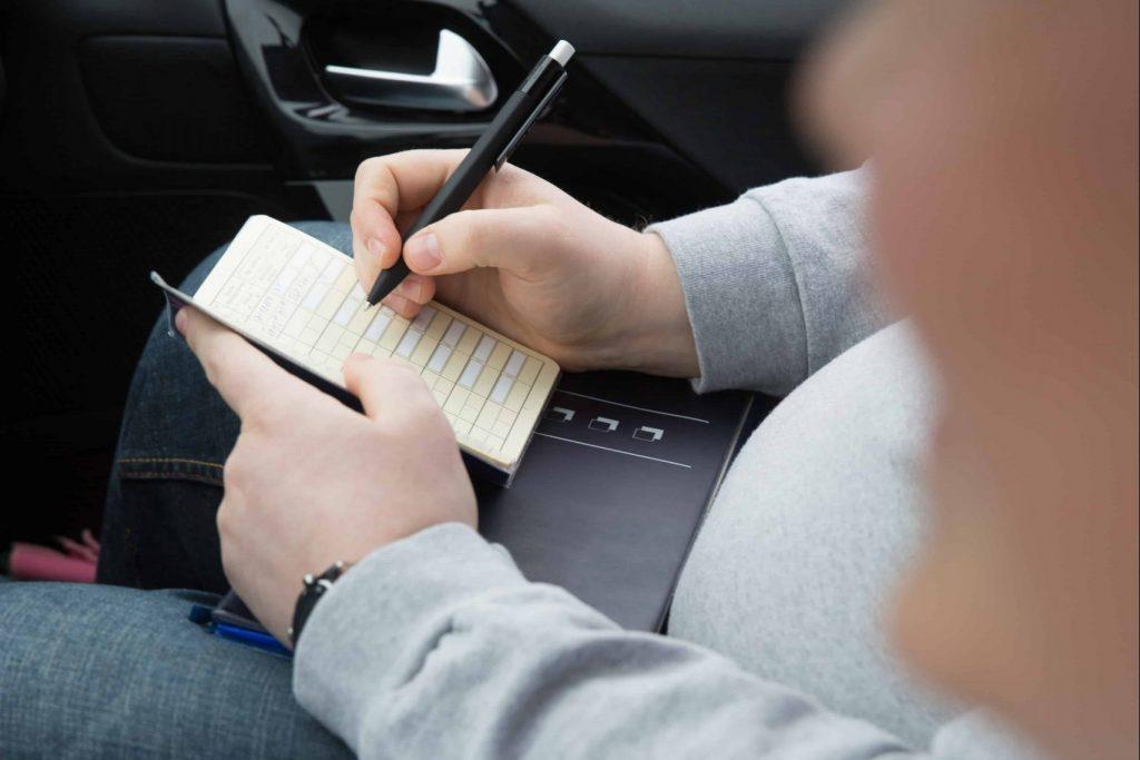 zapisovanje karton voznje ocenjevanje voznje b kategorija